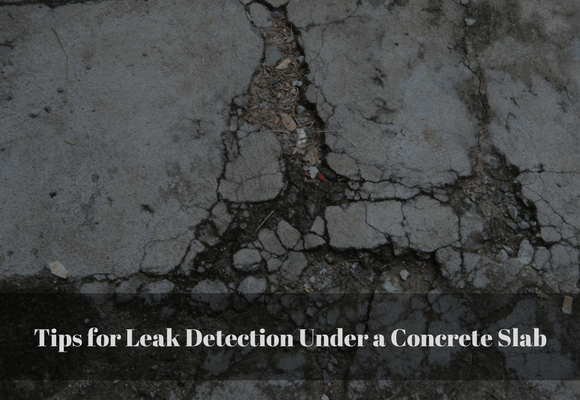 Leak Detection Under a Concrete Slab